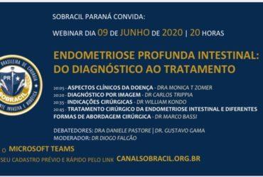 SOBRACIL PARANÁ CONVIDA: WEBINAR DIA 09 DE JUNHO DE 2020 | 20 HORAS