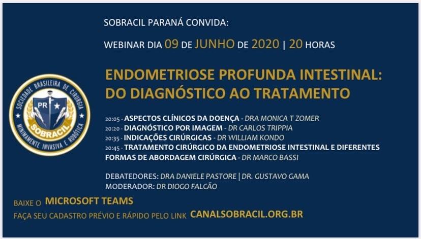 SOBRACIL PARANÁ CONVIDA: WEBINAR DIA 09 DE JUNHO DE 2020   20 HORAS